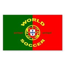 Portugal World Cup Soccer Rectangle Decal
