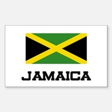 Jamaica Flag Rectangle Decal