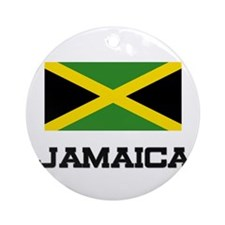 Jamaica Flag Ornament (Round)