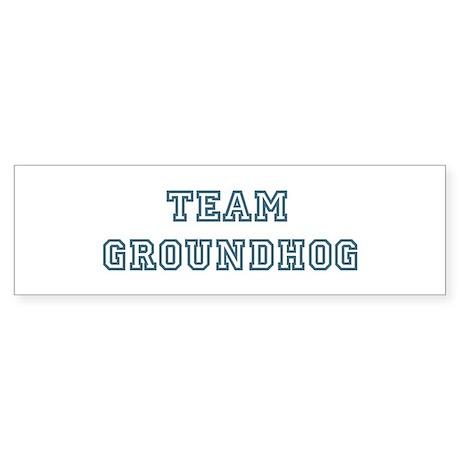 Team Groundhog Bumper Sticker