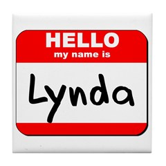 Hello my name is Lynda Tile Coaster