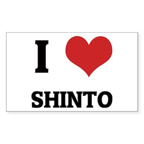 I Love Shinto Rectangle Sticker