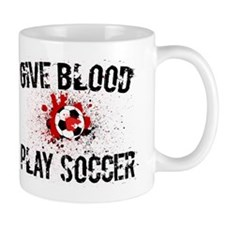 Give Blood Play Soccer Mug