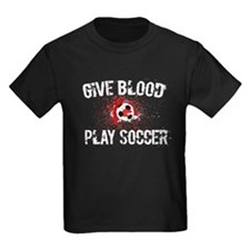 Give Blood Play Soccer T