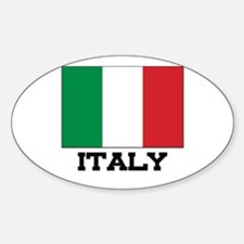Italy Flag Oval Decal