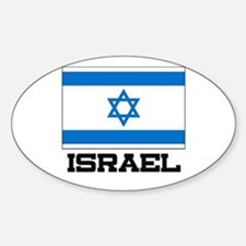Israel Flag Oval Decal