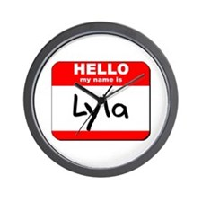 Hello my name is Lyla Wall Clock