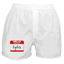 Hello my name is Lyla Boxer Shorts