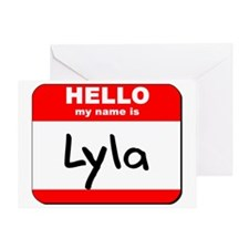 Hello my name is Lyla Greeting Card