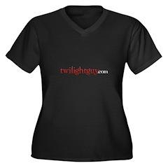 TwilightGuy.com (Red) Women's Plus Size V-Neck Dar