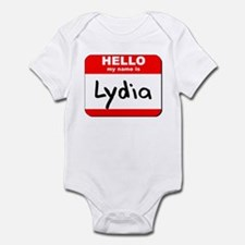 Hello my name is Lydia Onesie