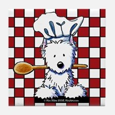 Westie Chef Tile Coaster