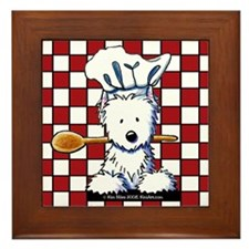 Westie Chef Framed Tile