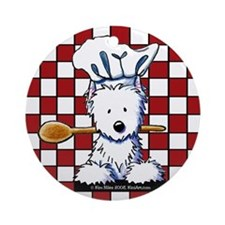 Westie Chef Ornament (Round)