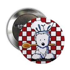 "Westie Chef 2.25"" Button"