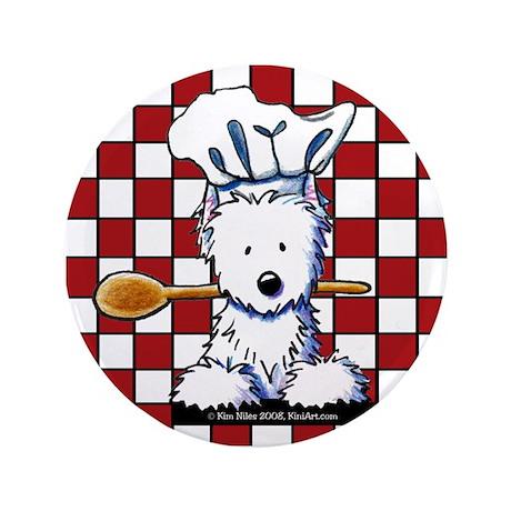 """Westie Chef 3.5"""" Button"""