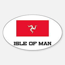 Isle Of Man Flag Oval Decal