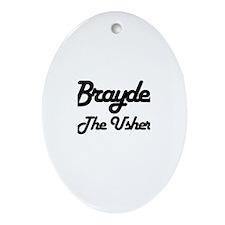 Brayden - The Usher Oval Ornament