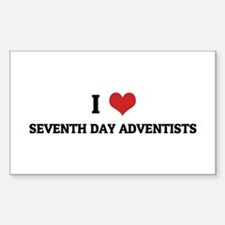 I Love Seventh Day Adventists Sticker (Rectangular