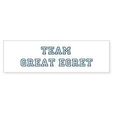 Team Great Egret Bumper Bumper Sticker