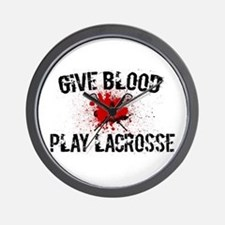 Give Blood Play Lacrosse Wall Clock