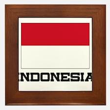 Indonesia Flag Framed Tile