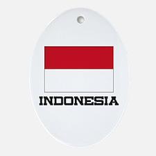Indonesia Flag Oval Ornament