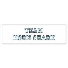 Team Horn Shark Bumper Bumper Sticker