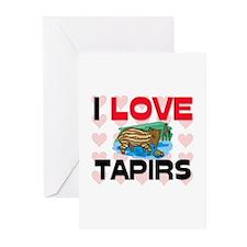 I Love Tapirs Greeting Cards (Pk of 10)