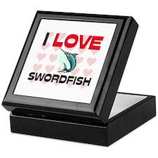 I Love Swordfish Keepsake Box