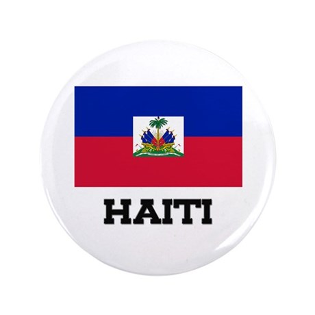 """Haiti Flag 3.5"""" Button"""