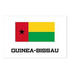 Guinea-Bissau Flag Postcards (Package of 8)