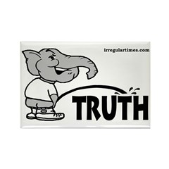 GOP Elephant Peeing on Truth Magnet (10 pack)