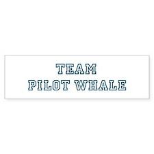 Team Pilot Whale Bumper Bumper Sticker