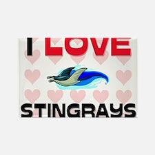 I Love Stingrays Rectangle Magnet