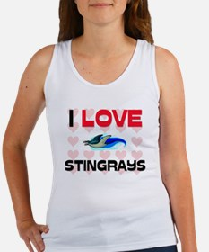 I Love Stingrays Women's Tank Top