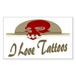 I Love Tattoos Rectangle Sticker