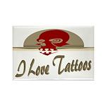 I Love Tattoos Rectangle Magnet (10 pack)