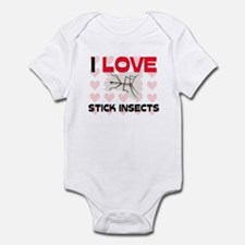 I Love Stick Insects Infant Bodysuit