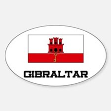 Gibraltar Flag Oval Decal