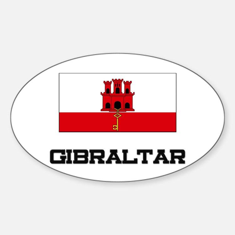 Gibraltar Flag Oval Decal