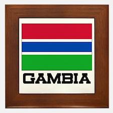 Gambia Flag Framed Tile