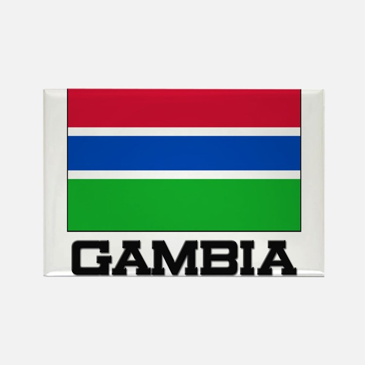 Gambia Flag Rectangle Magnet