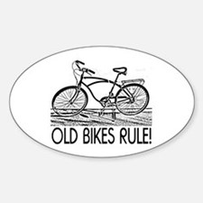 Old Bikes Oval Decal