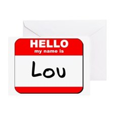 Hello my name is Lou Greeting Card