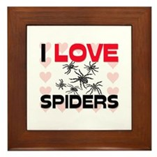 I Love Spiders Framed Tile