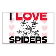 I Love Spiders Rectangle Decal