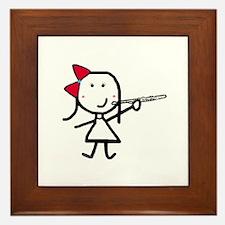 Girl & Flute Framed Tile