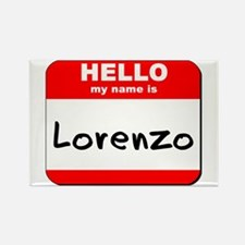 Hello my name is Lorenzo Rectangle Magnet