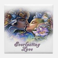 Everlasting Love Kiss Tile Coaster